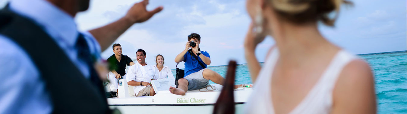 Belize Destination Wedding - Boat